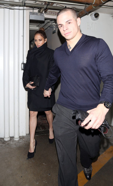Jennifer Lopez + Casper Smart leaving a friend's birthday partyin LosAngeles on Wednsday