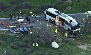 Bus crash - Yucaipa, CA - 2/3/2013 - 8 fatalities.