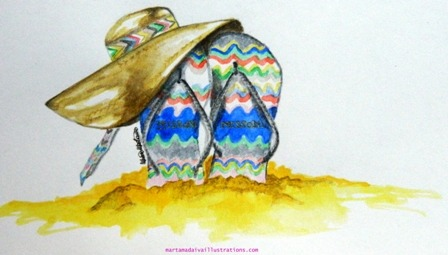 Missoni Loves Havaianas fashion illustration. Always hope!