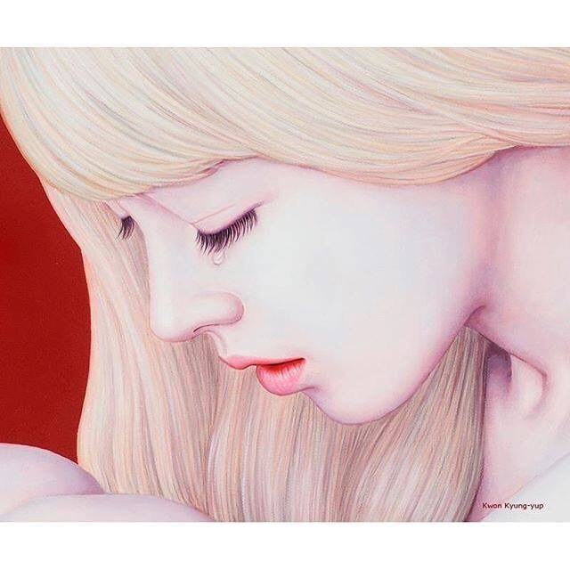 "beautifulbizarremagazine:Detail of @kwonkyungyup's painting, ""Romance (로망스)"", oil on canvas, 2015"