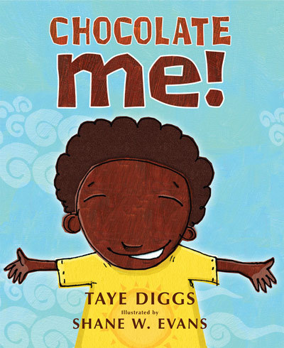 soulbrotherv2:  Chocolate Me! by Taye Diggs The boy is teased for looking different than the other kids. His skin is darker, his hair curlier. He tells his mother he wishes he could be more like everyone else. And she helps him to see how beautiful he really, truly is.For years before they both achieved acclaim in their respective professions, good friends Taye Diggs and Shane W. Evans wanted to collaborate on Chocolate Me!, a book based on experiences of feeling different and trying to fit in as kids. Now, both men are fathers and see more than ever the need for a picture book that encourages all people, especially kids, to love themselves.
