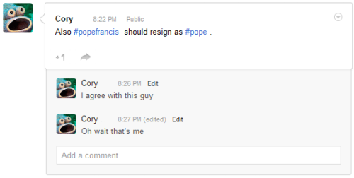 I treat Google+ like a joke. Because that's what it is.