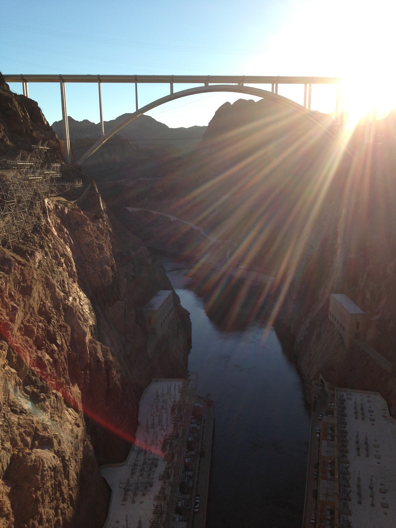 Taken at the Hoover Dam. January 2013.