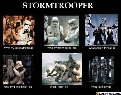 chroniclesofdave:  Being a Stormtrooper - Perception is everything