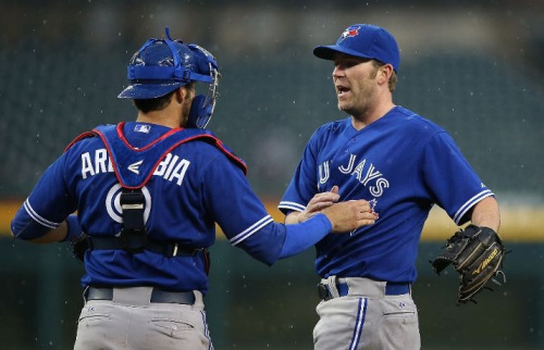 Casey Janssen & J.P. Arencibia - April 10, 2013