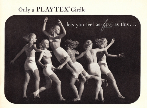 Playtex  1952 by Vintage Cool 2 on Flickr.Man, even women's undergarments from the '50s that are supposed to be more comfortable look like hell to wear. Not that I'd know.
