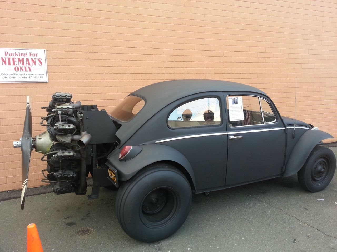 topvehicles:  Blacked out VW Bug w/ Rotary Engine