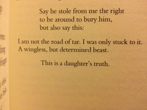 "Excerpt from Tara Hardy's poem ""Daughter"" from her book Bringing Down the Chandeliers"