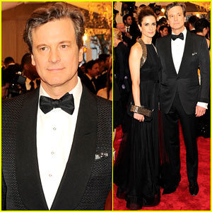colinfirthfans:  Colin Firth: Met Ball 2013 Red Carpet with Livia Giuggioli  Colin Firth poses for a picture with his wife Livia Giuggioli on the red carpet at the 2013 Met Gala  View Post