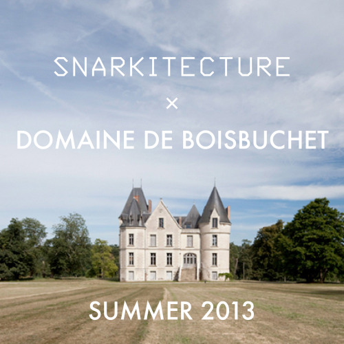 Snarkitecture is leading a workshop at Domaine du Boisbuchet this summer. More information and registration here: http://bit.ly/ZDUdyd