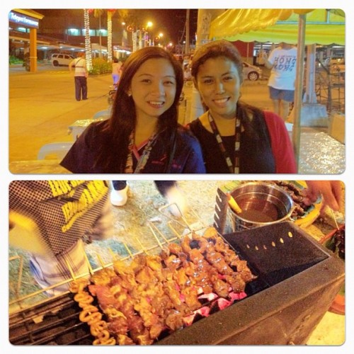 With Normie at the food bazaar XD hello barbecue dinner!