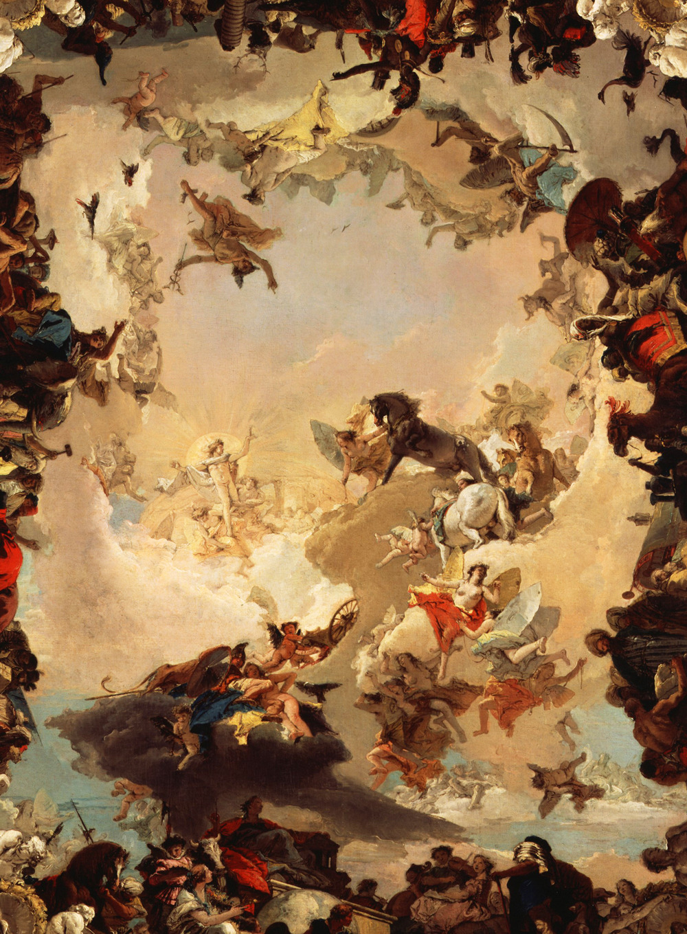 editionaladdictions:  Tiepolo. Allegory of the Planets and Continents, 1752.