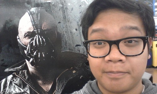 Just chilling with Bane. Bros before betrayers of the League of Shadows.