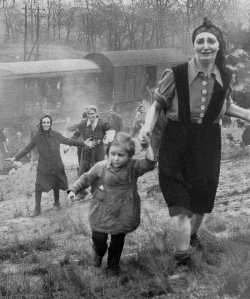 elinka:  This once in a lifetime image depicts Holocaust survivors at the moment of realizing they are liberated. This is such candid, raw photo you would think it was taken on a cellphone at the spur of the moment. Read more about the story behind this photo here. from here