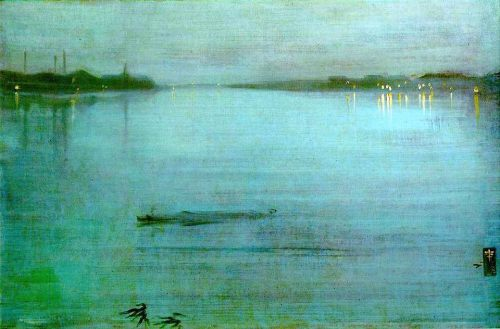 James Abbott McNeill Whistler - Nocturne: Blue and Silver - Cremorne Lights, 1872. Oil on canvas, 50.2 x 74.3 cm. Tate Gallery, London