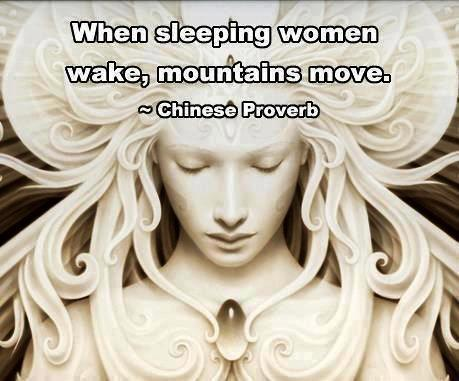 safercampus:  When sleeping women wake, mountains move.