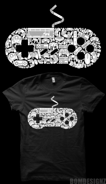 All the controllers that left huge history for gaming. Buy it here http://www.redbubble.com/people/bomdesignz/works/9865075-gamer
