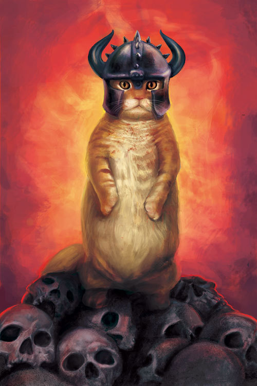 Gatito The Destroyer. A new cat era  Jesús Da Silva. (Jdsart)