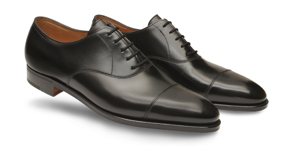 City II black captoe oxfords from John Lobb
