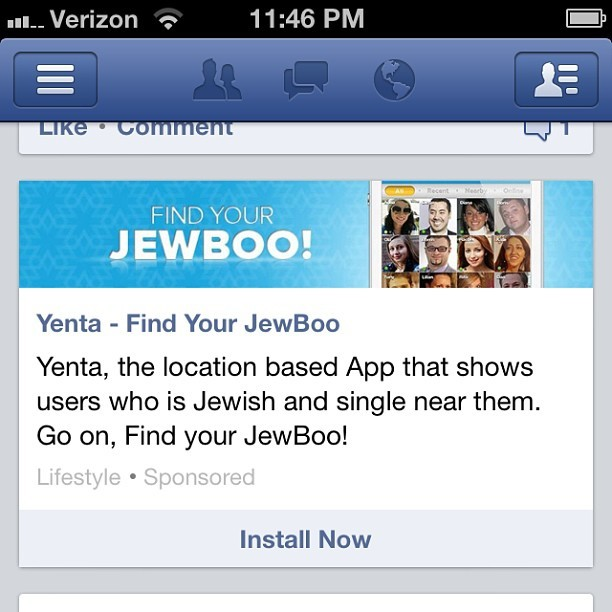 It's as though they've been reading my mind! #JEWBOO #FindMeALovelyJewishGirl #IWishIWereJewish #GodsChosenPeople