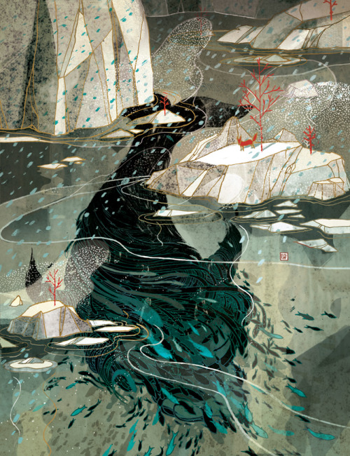"supersonicelectronic:   Victo Ngai. Victo Ngai for ""The Animal Kingdom"" currently on display (Until March 3rd, 2013) at Gallery Nucleus in Los Angeles, California."
