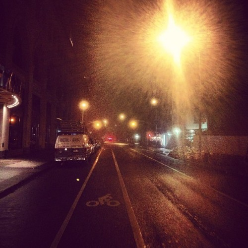 a foggy ny night (at 9th Street)
