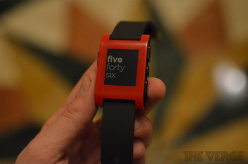 thisistheverge:  The Pebble smartwatch keeps it simple (hands-on) Light on features, but heavy on design