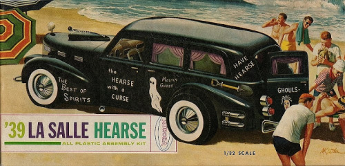 cryptofwrestling:  1939 La Salle Hearse kit (1960)