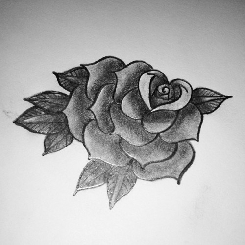 #another #rose #tattoo #design that I did #foreverago.  #blackandgray #tattoos #drawing #sketch #shading #old #mywork #artwork #art