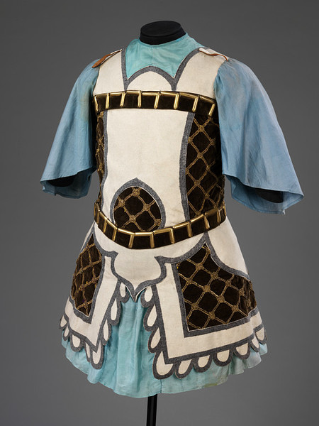 Costume for a Warrior in Massine's ballet Le Chant du rossignol designed by Henri Matisse, Diaghilev Ballet, 1920.