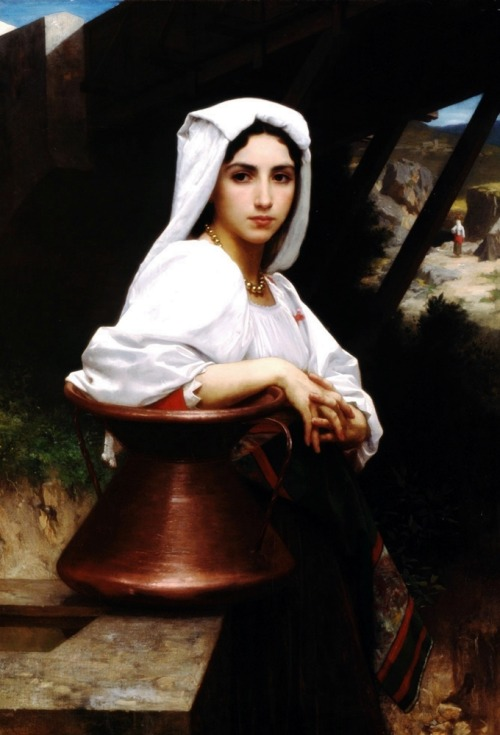 musiciansandpainters:  Italian Girl by William-Adolphe Bouguereau, 1871.