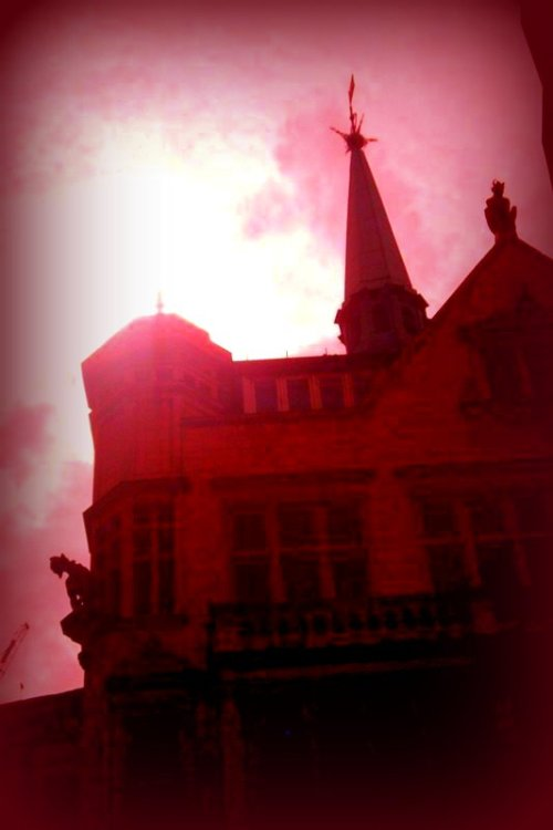 Taken by me: Haunted London Walk - St. Peter upon Cornhill - no camera trickery or photoshop on my part, just shot through tinted sunglasses.