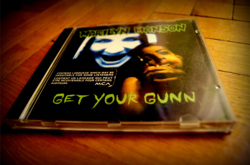 mansoncollector:  Get Your Gunn - Canadian CD - INTDM-95902With English / French sticker on front.