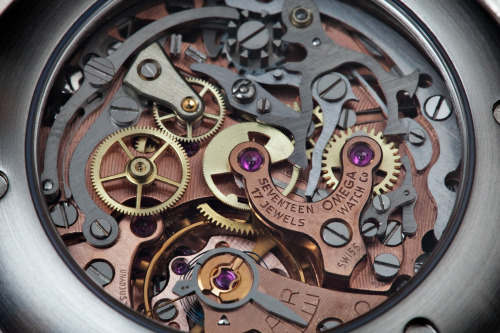 handa:  Omega Cal. 321 Chronograph movement (via Malenkov in Exile)