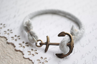 Antique anchor bracelet.