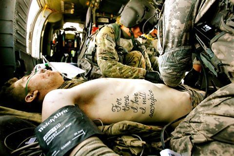 "Powerful picture. ""For those I love I will sacrifice."""