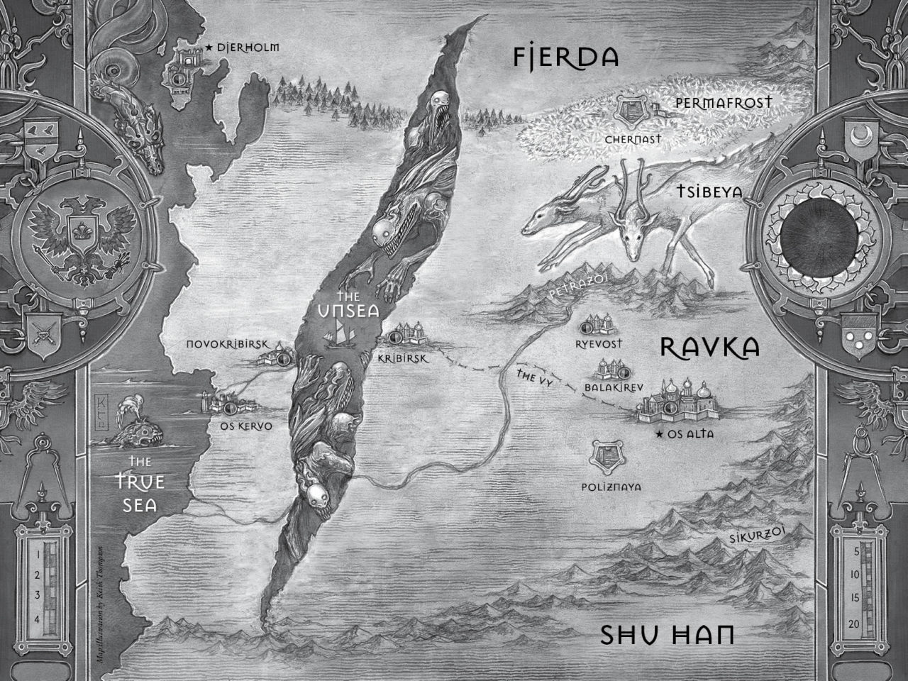 Map of Ravka, Shadow and Bone