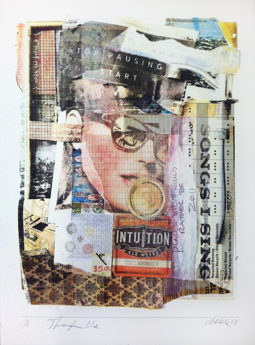 Through Us Silkscreen, Collage 2013