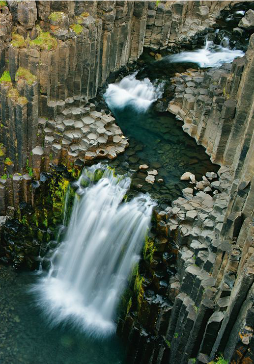 h-agiofobia:  Photograph by Wild Wonders of Europe - Litlanesfoss, Iceland.
