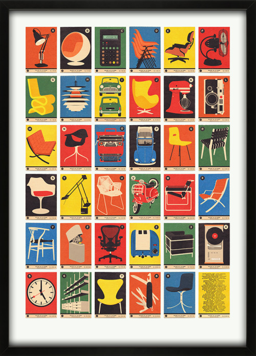 designersof:  Design Classics A to Z 67 Inc is a print emporium full of interesting things…we decided to launch 67 Inc with the simple aim of creating interesting things that we would like to have on our walls and in our homes.  ————————get your work featured by submitting it to designersof.com