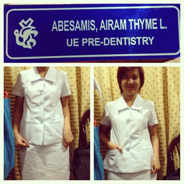 Got mi uniform :) #college #dentistry #ue #warrior
