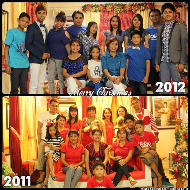 "This is how we Celebrate the Holiday Season., Christmas 2011 and 2012., Mi Familia 👍🎄🏠🎁✔., ""Double Click the Picture"".,  (at My Crib)"