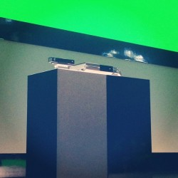 ijustine:  You can't see it too well.. But it's there :) #xboxone #xboxreveal  Soooo excited!!!