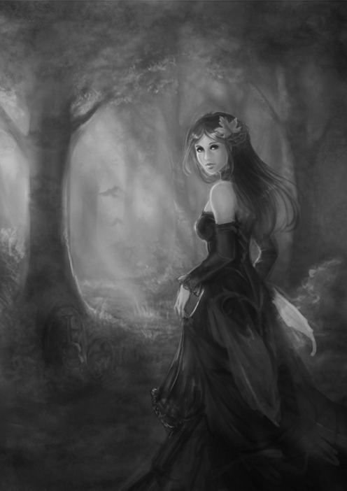 Current work in progress <3 Really enjoying the background on this one. *tree fiend*