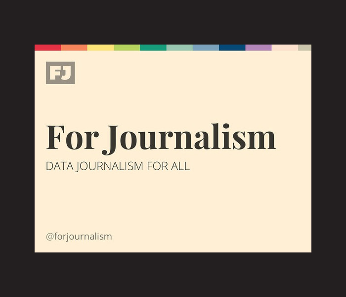 Teaching tech to journalists. For Journalism is an online educational project designed to teach the essentials of digital production to working journalists. Each course is created by a team of developers, designers, and coders with technical skills and a passion for the news.