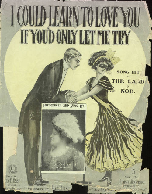 "Sheet music cover for ""I Could Learn to Love You, If Only You Would Let Me Try,"" circa 1906, by Harry Armstrong."