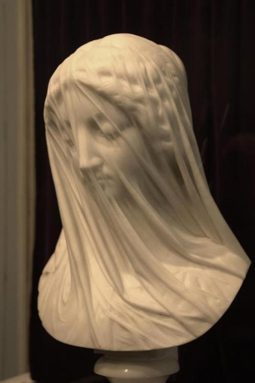 allthebeautifulthings9828:  Jaw-dropping marble statue carved in the mid-1800s by Italian sculptor Giovanni Strazza, entitled 'The Veiled Virgin'.