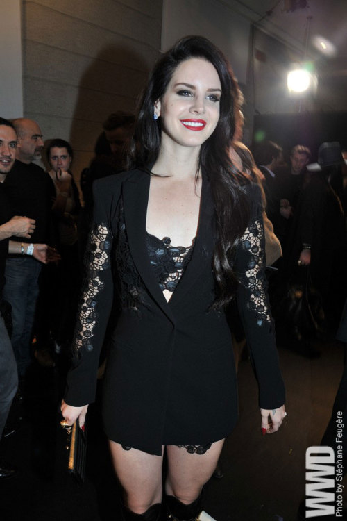 Lana Del Rey Front Row at Versace