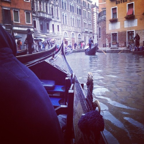 Gondola rides in the rain.