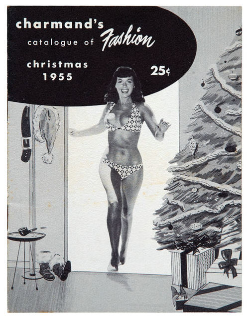 What does Bettie Page get for Christmas from Charmand's?  CLICK Vintage Sleaze